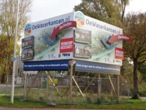 reclamebord bouwproject